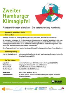 Klimagipfel des BUND Hamburg